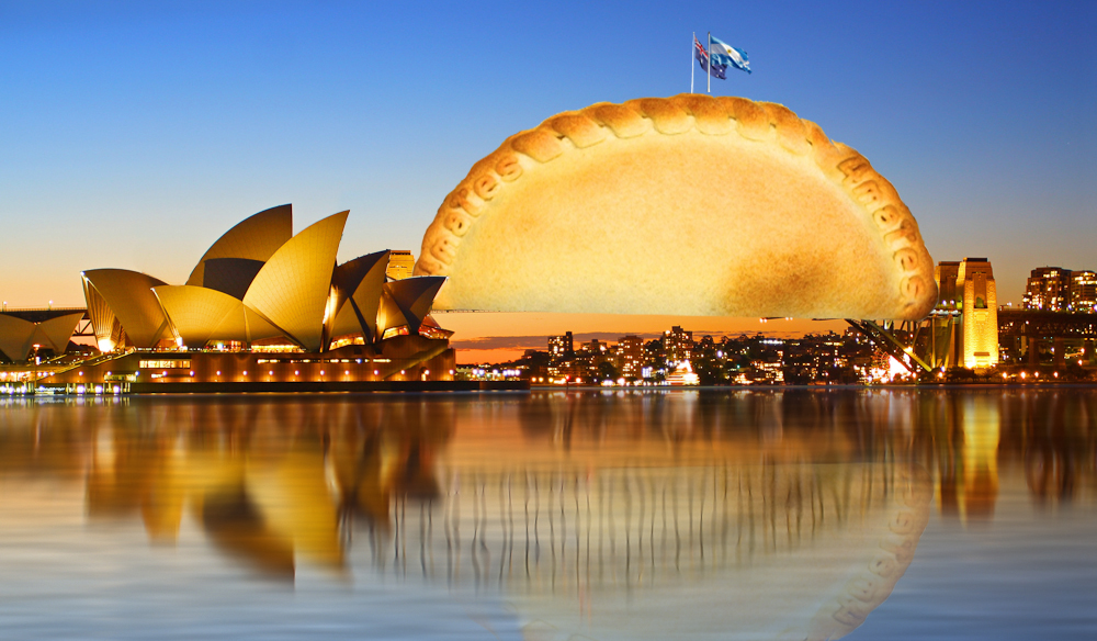 4mates empanada as the Sydney Harbour Bridge