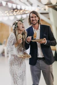 Empanadas at a Wedding celebration